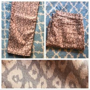 Light pink / dusty pink leopard print pants